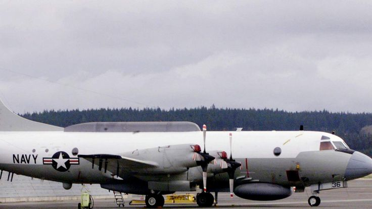 EP3E FROM VQ1 SQUADRON SITS ON TARMAC AT NAVAL AIR STATION WHIDBEY.