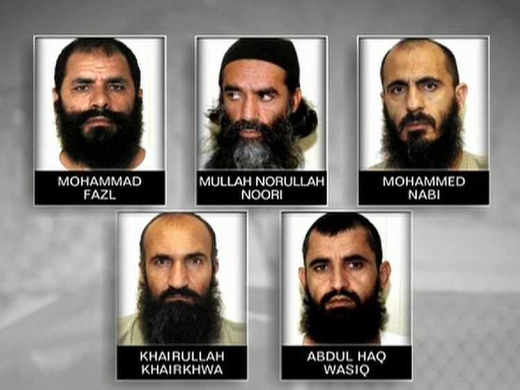 The five men released in exchange for Sergeant Bergdahl.