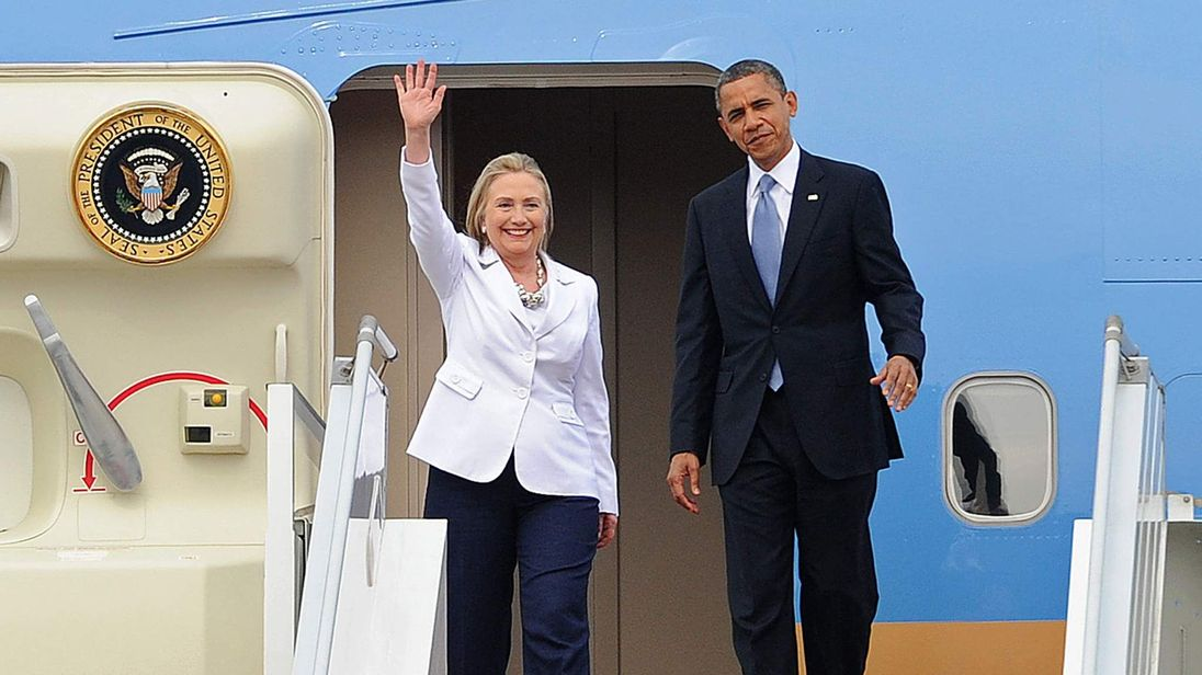 Secretary of State Hillary Clinton and President Barack Obama