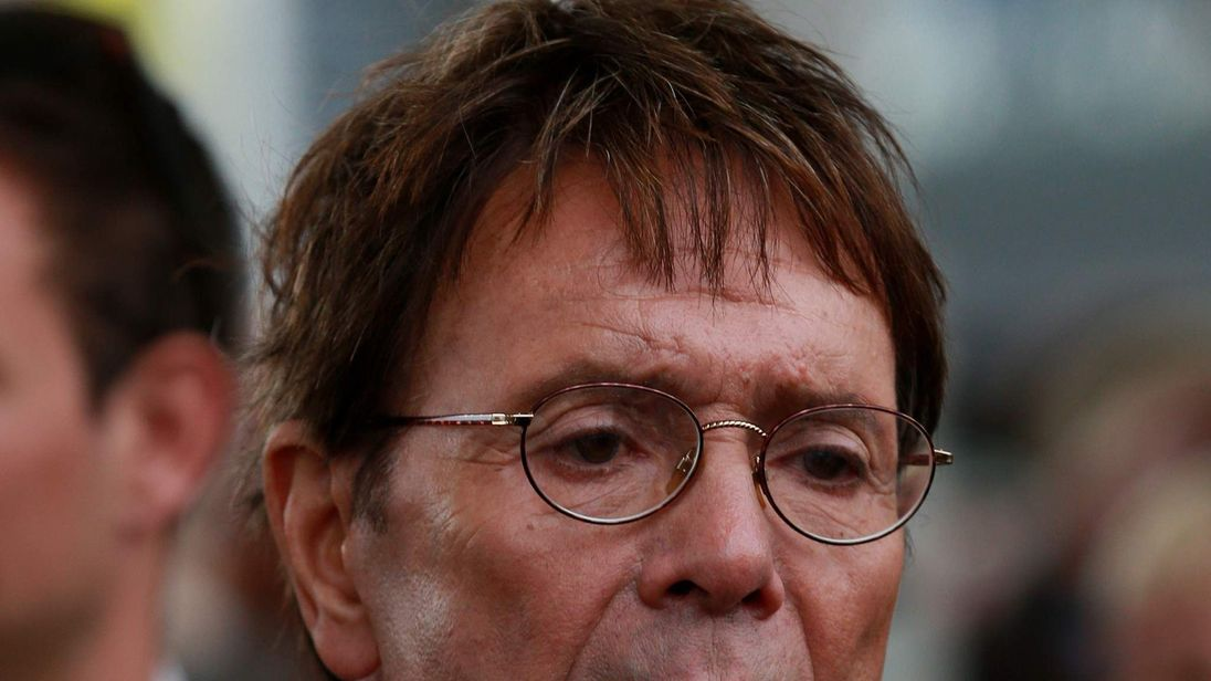 File pic of pop singer Sir Cliff Richard under police investigation