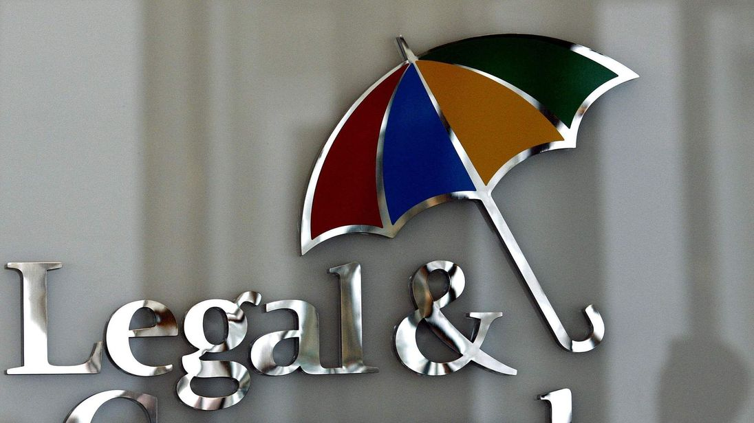 The logo of Legal & General insurance company