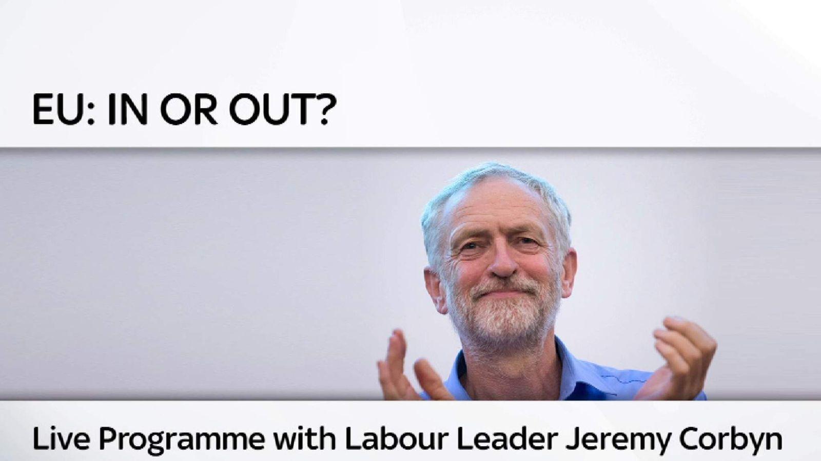 Jeremy Corbyn live Programme