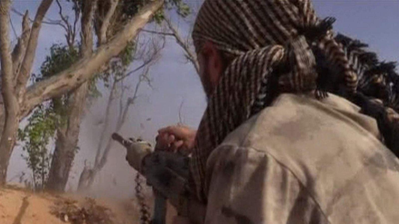 Libyan forces battle for Sirte in footage taken on 1 June