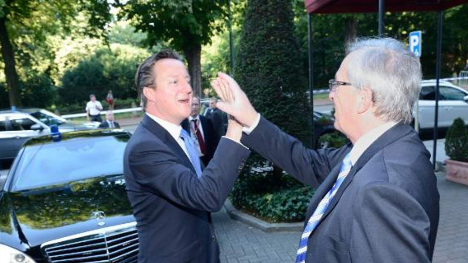 Jean-Claude Juncker, President-elect of the EC meets David Cameron. Pic: European Commission