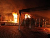 Benghazi Consulate On Fire