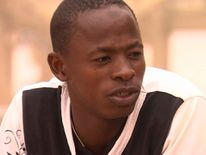 Would-be migrant from Niger Faroon talking to Sky's Alex Rossi in Libya