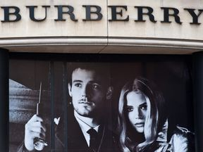 A Burberry shop in central London