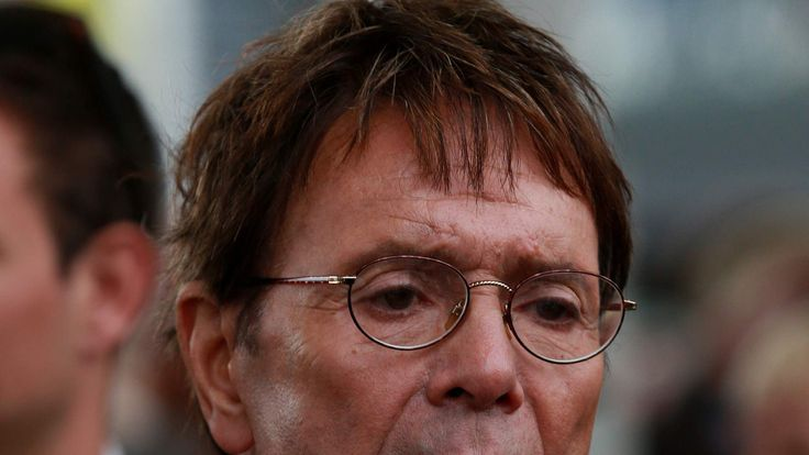File pic of pop singer Sir Cliff Richard under police investigation