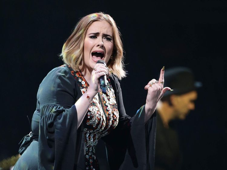 Adele at Glastonbury festival