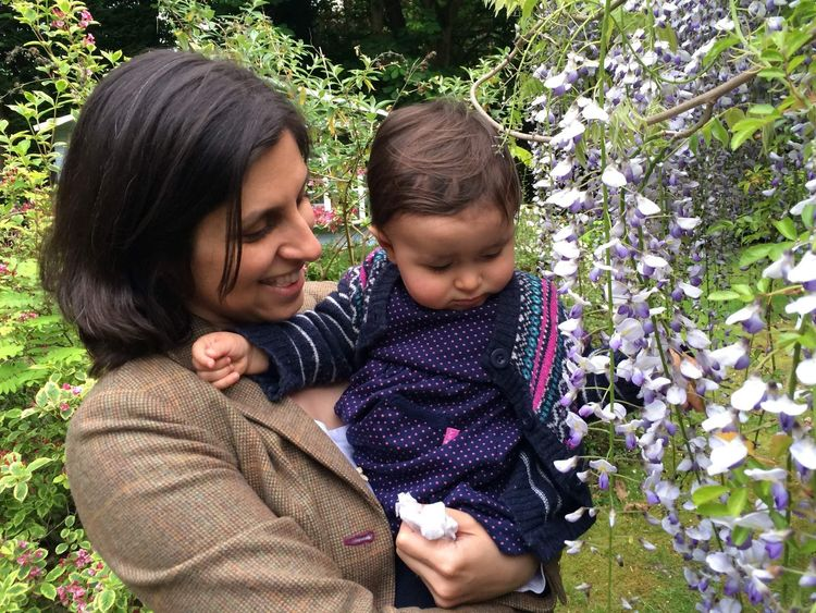 Nazanin Ratcliffe with her daughter