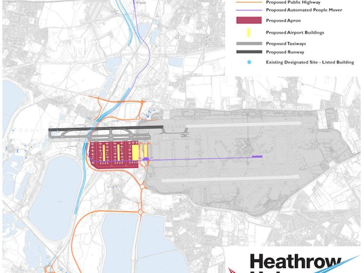 Heathrow Hub proposal for lengthening the north runway at the airport