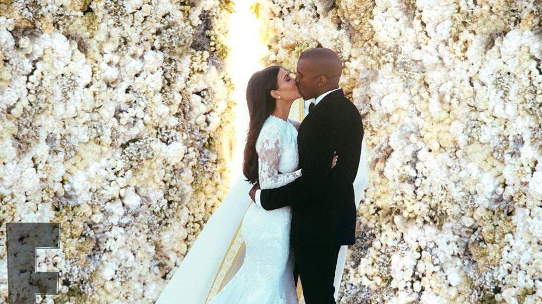 Kim and Kanye's wedding