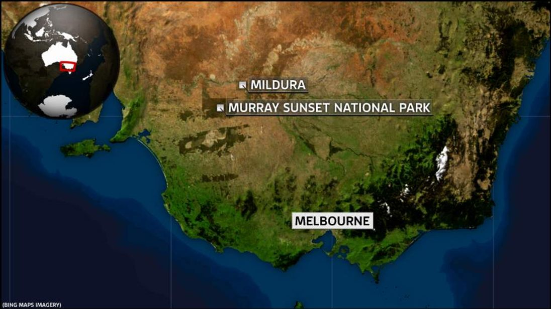 Map of Mildura and Murray Sunset National Park
