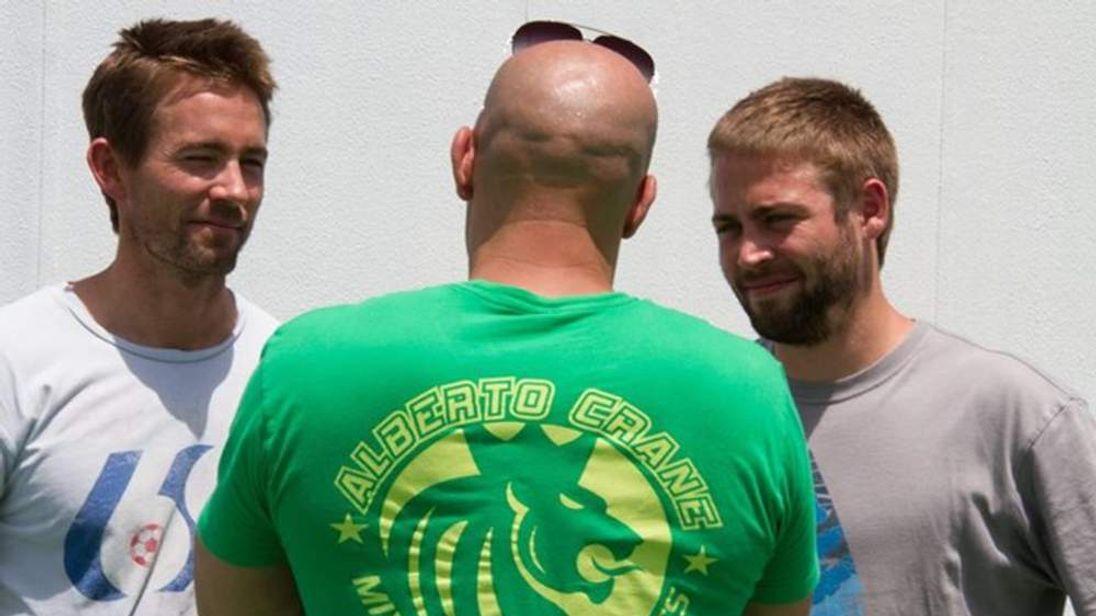 Vin Diesel with Walker brothers