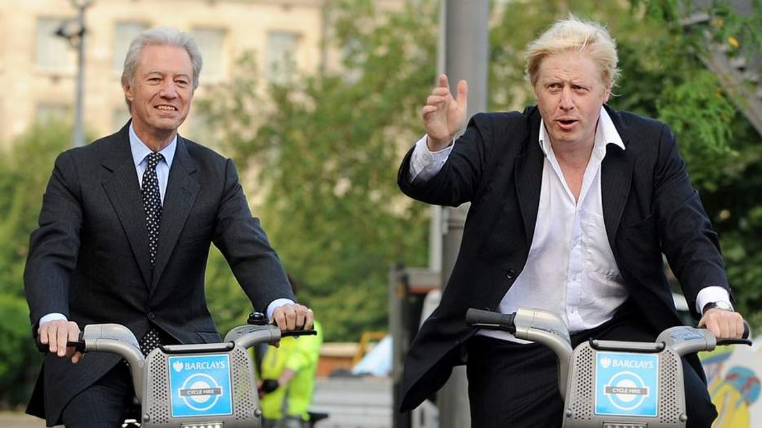 Marcus Agius and London Mayor Boris Johnson