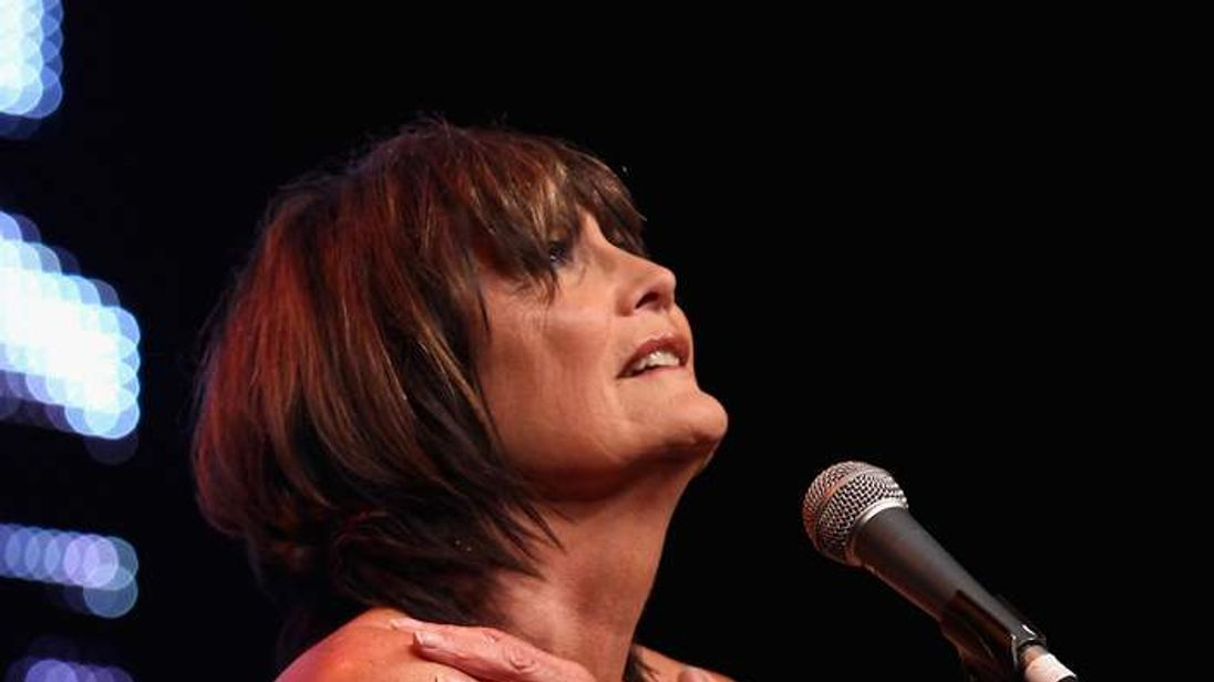 Sandie Shaw performs at the Vintage at Goodwood Festival in 2010