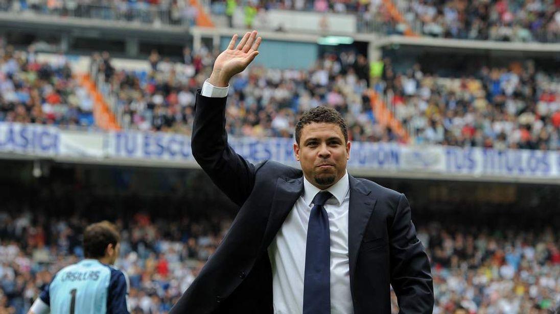 Former Brazilian football player Ronaldo Luís Nazário de Lima
