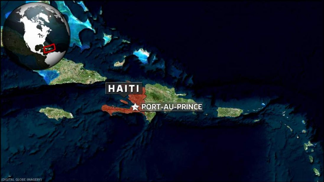 Map showing Port-au-Prince in Haiti