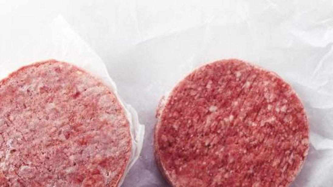 Frozen Hamburger Patty