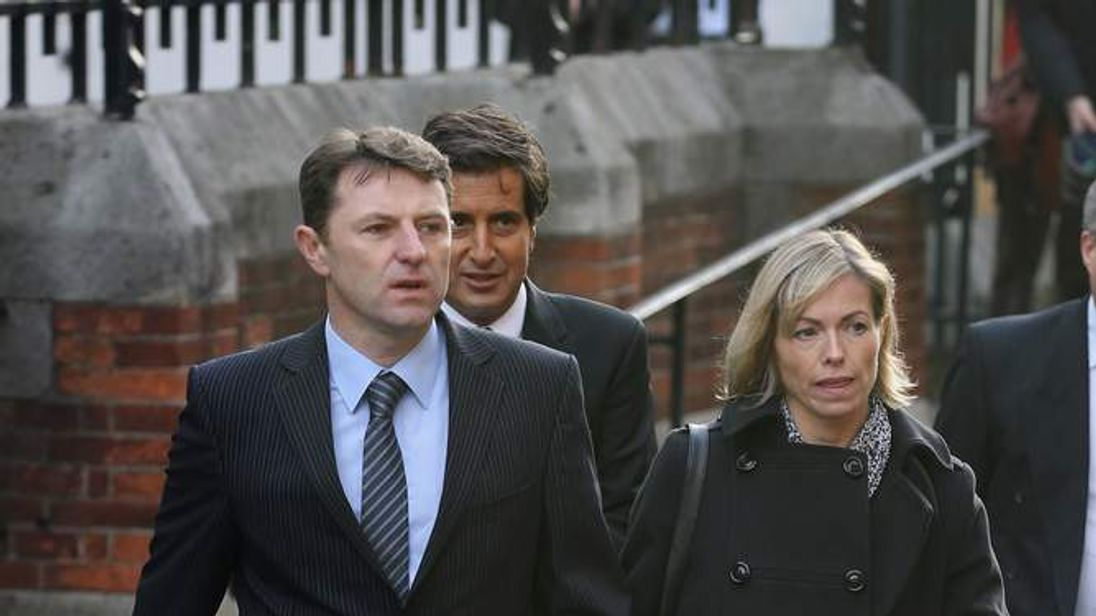 Kate and Gerry McCann arriving for Leveson Inquiry