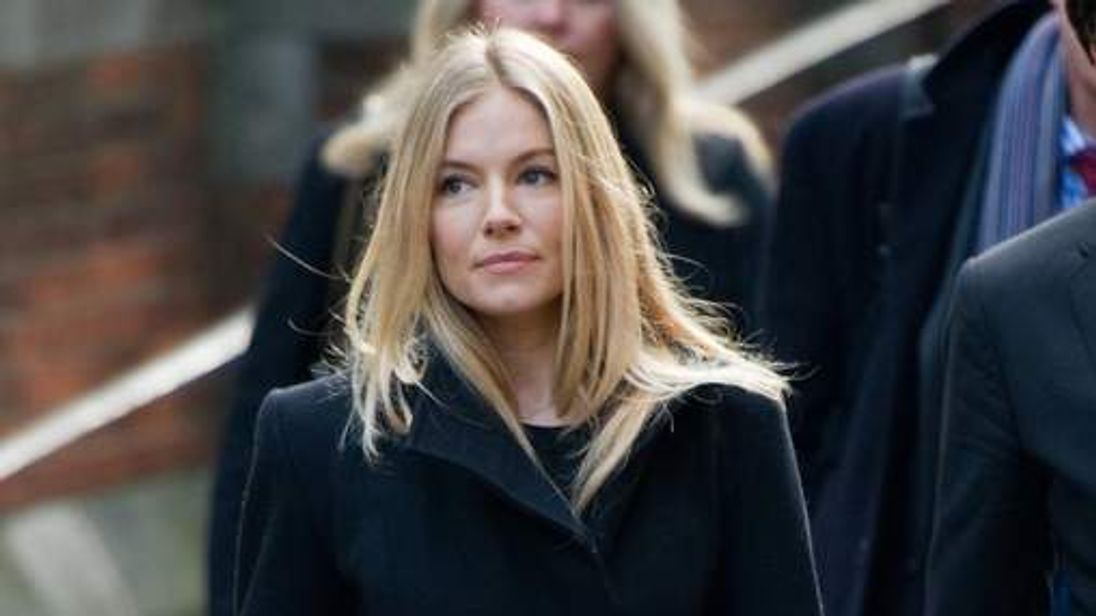 Sienna Miller arriving at the Leveson Inquiry