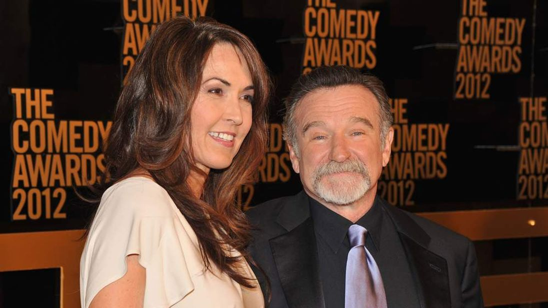 Robin Williams and wife Susan Schneider