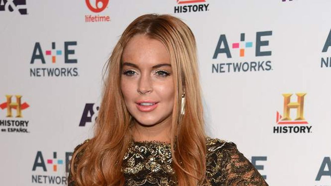Lindsay Lohan attends the A+E Networks 2012 Upfront event