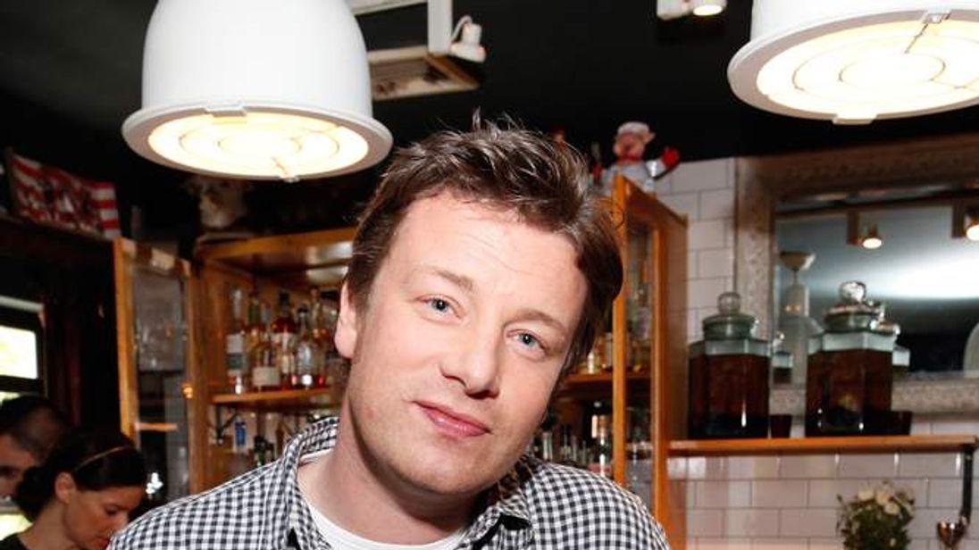 Jamie Oliver on Food Revolution Day in 2012