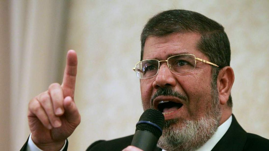 Egyptian Muslim Brotherhood candidate for the presidential elections Mohammed Mursi