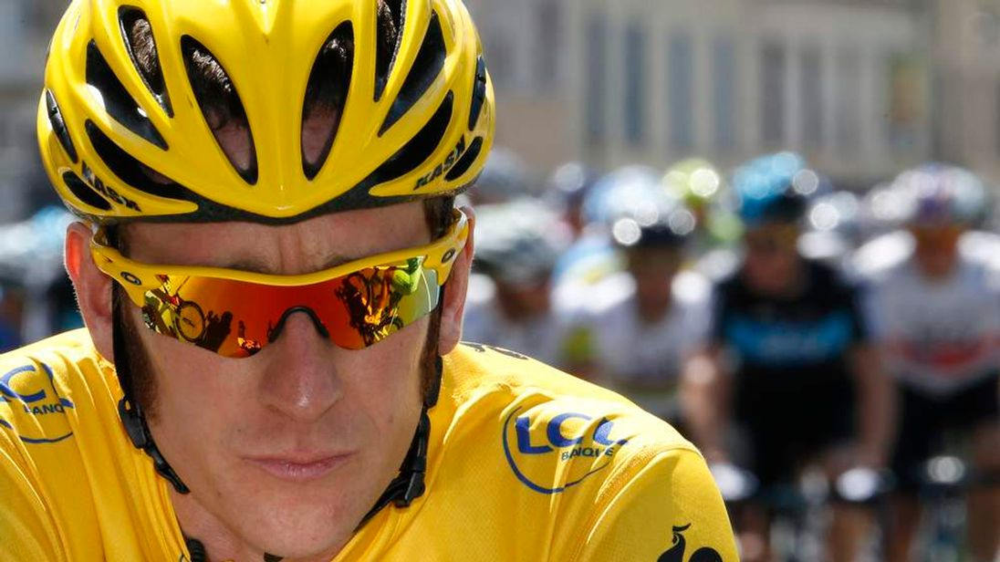 Bradley Wiggins on final stage of Tour de France