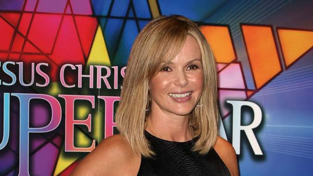 Amanda Holden at opening of Jesus Christ Superstar at London's O2