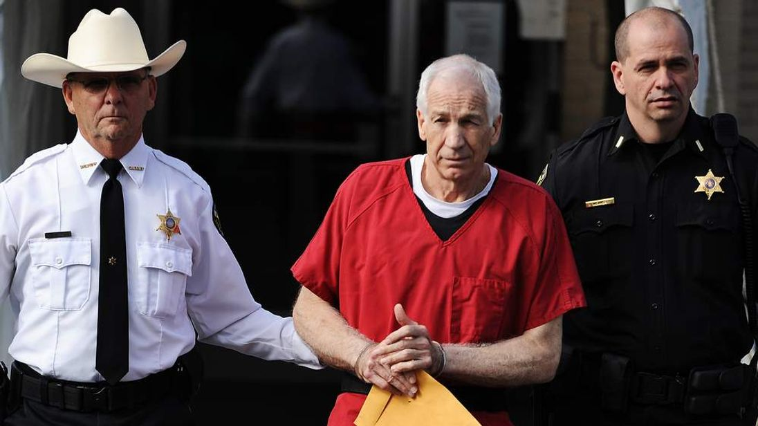 Sandusky Leaves After Sentencing