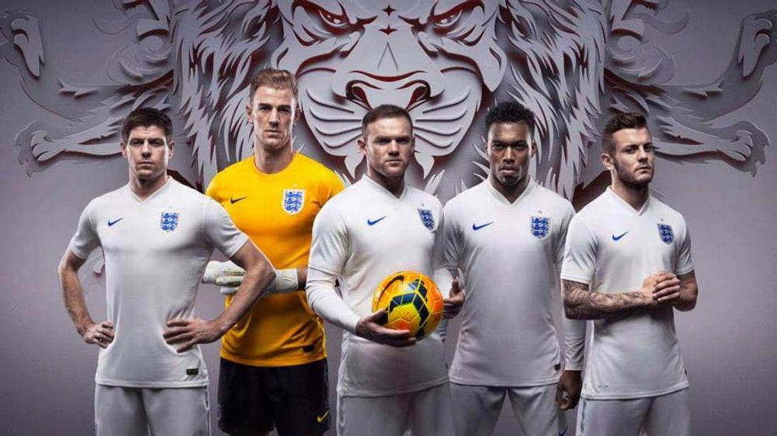 England's new football kit