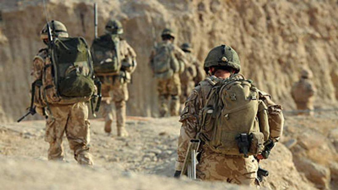 A British soldier in Afghanistan