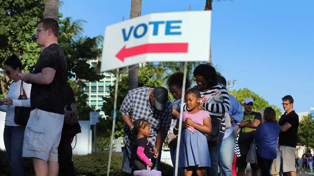 Miami voting line