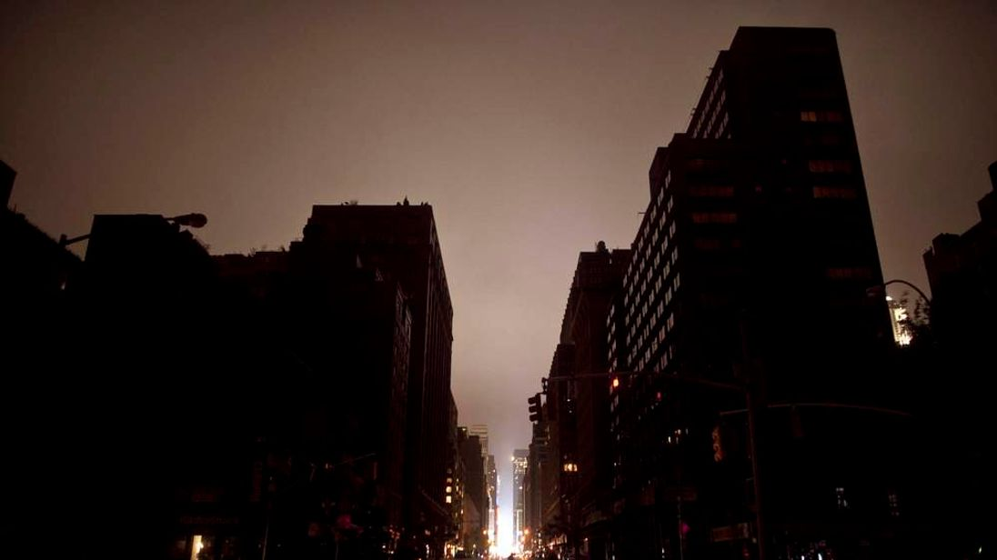 Power outage in New York after Superstorm Sandy