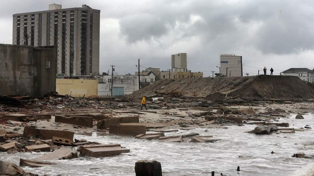 Damage in Atlantic City, New Jersey