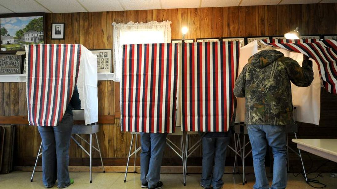 US Voters at Booths