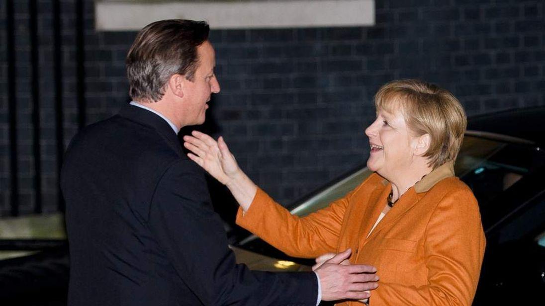 German Chancellor Angela Merkel with David Cameron