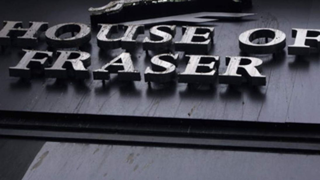 House of Fraser sign