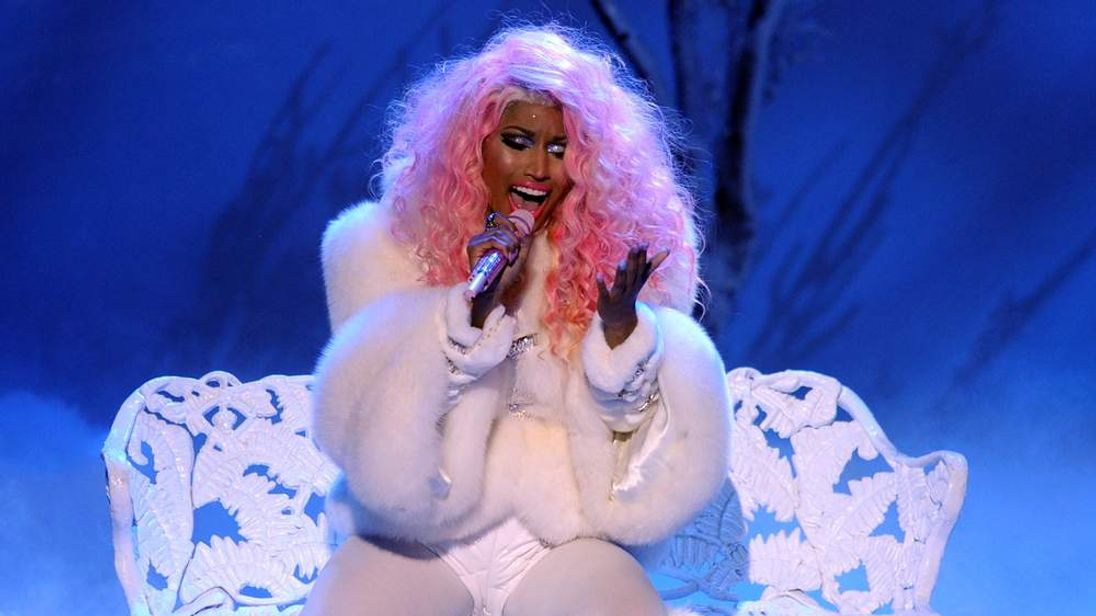 Rapper/singer Nicki Minaj performs