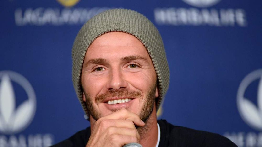 David Beckham at an LA Galaxy press conference
