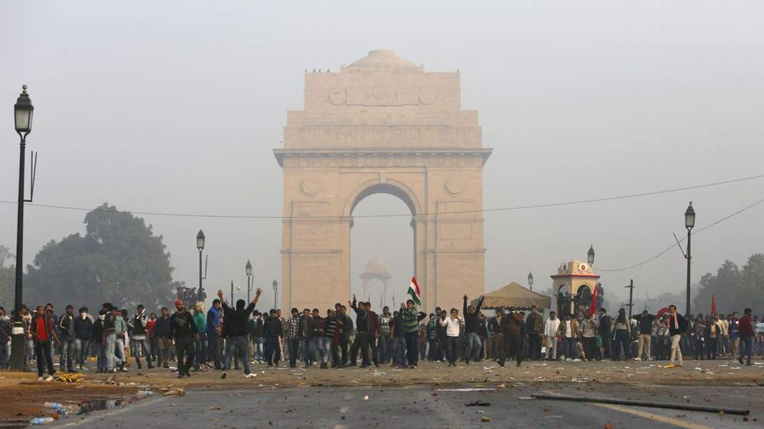 India Gang Rape Protests At India Gate Monument