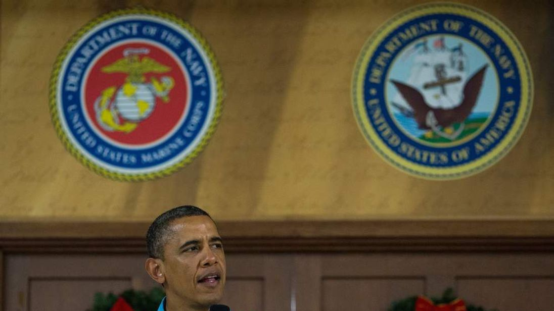 President Obama speaks in Hawaii on Christmas