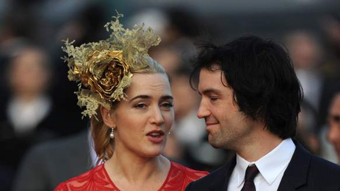 Winslet and her husband at the Hong Kong International Races