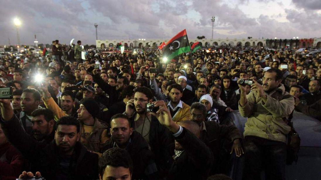 Protesters in Benghazi