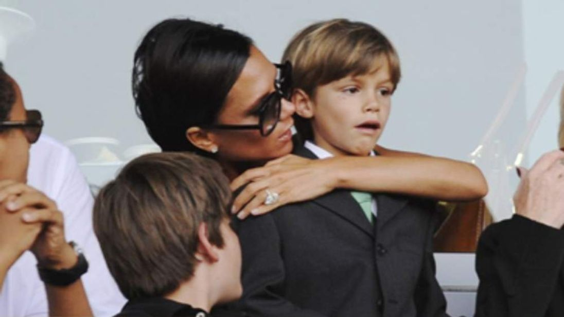 Victoria Beckham with her son, Romeo