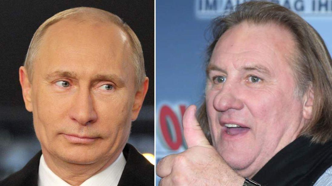 Russian President Vladimir Putin and actor Gerard Depardieu