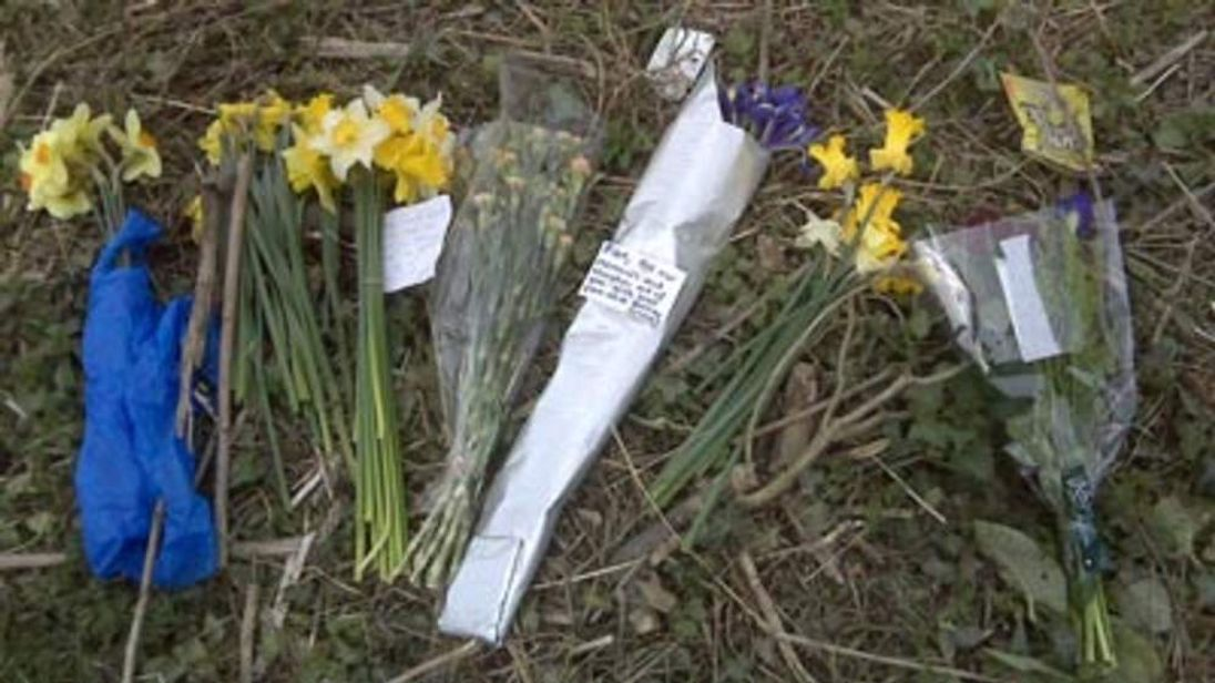 Floral tributes to Sian O'Callaghan.