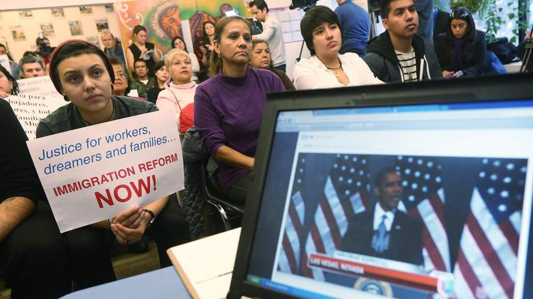 Immigrant Rights' Group Holds Watch Party For Obama's Speech In Vegas